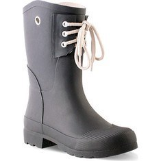 Black Rubber Rain Boot 6