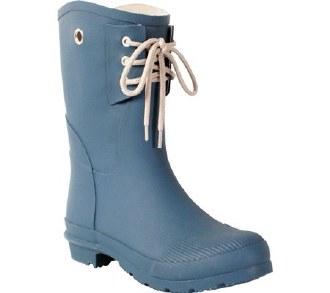 Navy Rubber Rain Boots 7