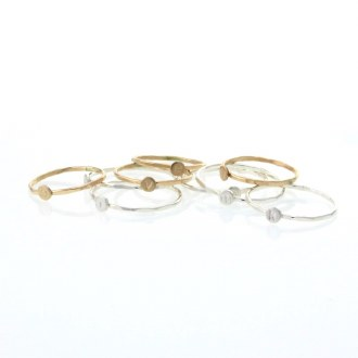 Gold Mini Letter Stack Ring A