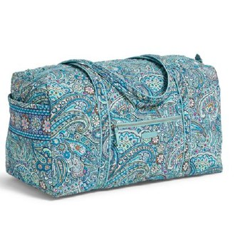 Iconic Large Travel Duffel Daisy Dot Paisley