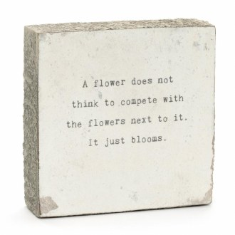 A flower does not think...