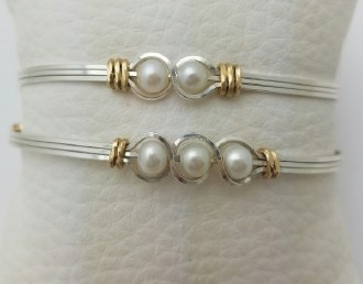 Love's Little Pearl Bracelet - 2 Pearls