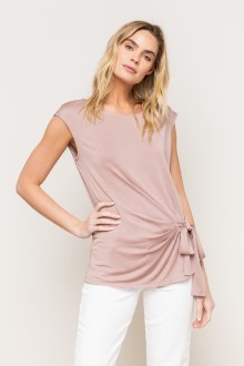 Mauve Side Tied Top Small