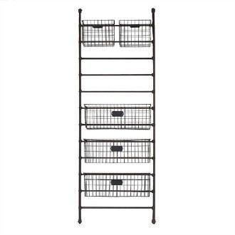 Metal Shelf w/ 5 Baskets