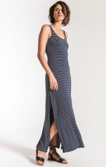 The Micro Stripe Maxi Dress