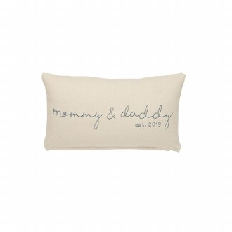 Mommy & Daddy Est. 2019 Pillow