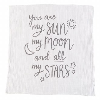 Muslin Moon & Stars Swaddle