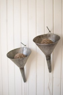 Galvanized Funnel with Jute Roll