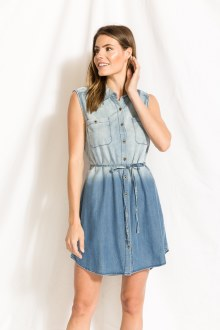Chambray Shirt Dress Medium