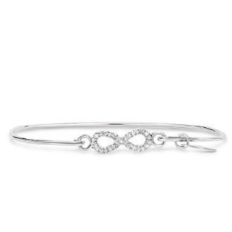 Pave Icon Bracelet: Infinity