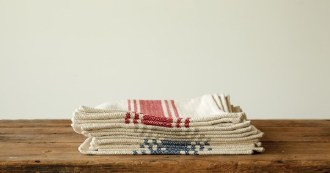 Striped Blue Placemats