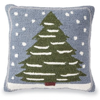 Snowy Tree Hooked Pillow