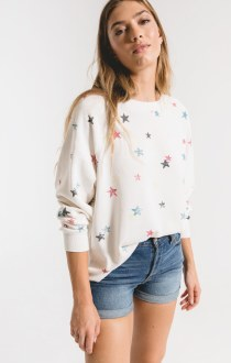The Distressed Star Pullover Large