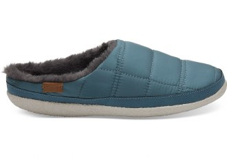 Stellar Blue Quilted Slippers