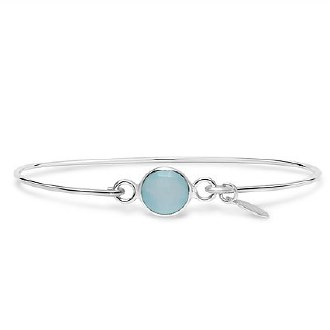 Silver March Birthstone Bracelet