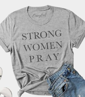 Strong Woman Pray Small