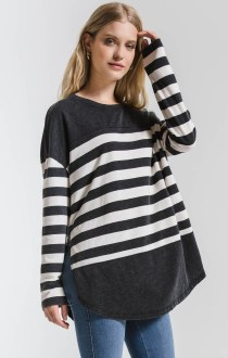 The Modern Stripe Long Sleeve Top Medium