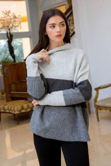 Grey Shades Drop Shoulder Sweater
