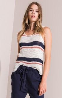 Tulum Striped Knit Tank