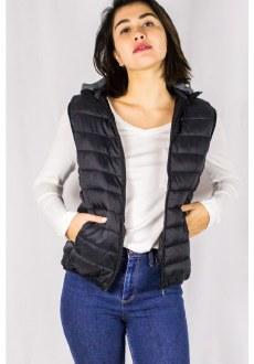 Fur Lined Hooded Vest