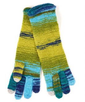 Watercolor Striped Glove Blue