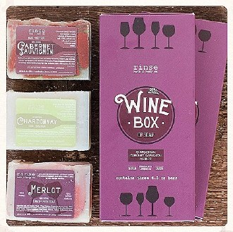 Wine Box of Soap