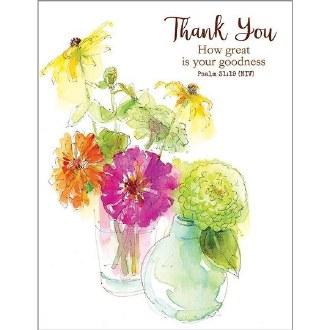 Zinnia Vases Thank You Card