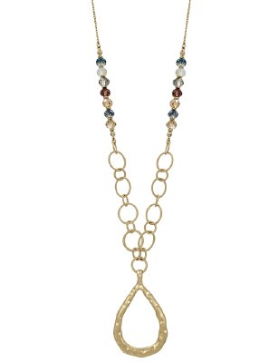Gold & Multi Teardrop Necklace