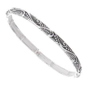 Skinny Filigree Swirl Stretch Bracelet