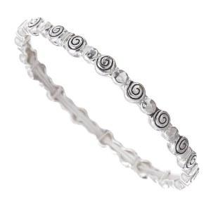 Skinny Swirl Metal Stretch Bracelet