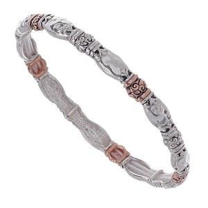 Skinny Fleur de Lis Stretch Bracelet Copper