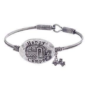 Happy Camper Bracelet Silver