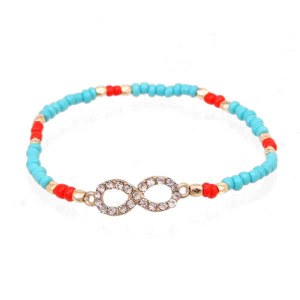 Eternity Bead Bracelet Turquoise