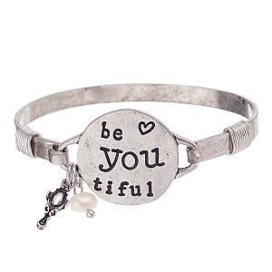 """Be You Tiful"" Bracelet Silver"