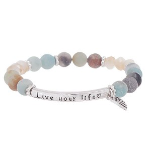 'Love Your Life' Beaded Bracelet