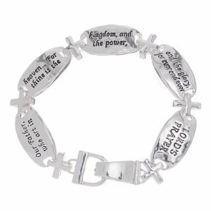 Lord's Prayer Silve Link Bracelet