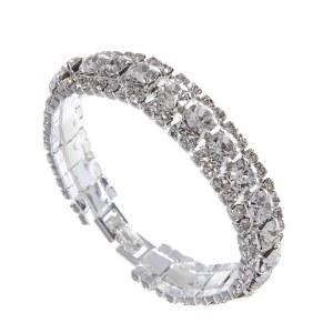 Rhinestone Evening Bracelet Clear