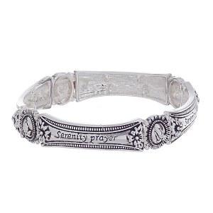 Serenity Prayer Metal Stretch Bracelet