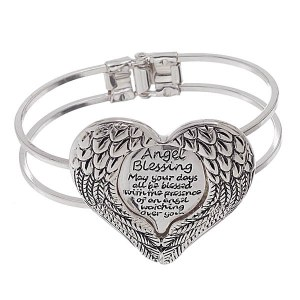 Angel Blessing Bangle Bracelet