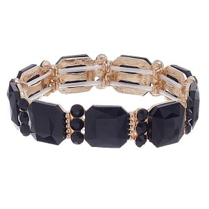 Crystal Stretch Bracelet Black