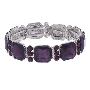 Crystal Stretch Bracelet Purple