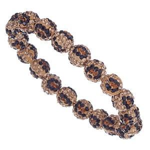 Animal Print Rhinestone Stretch Bracelet