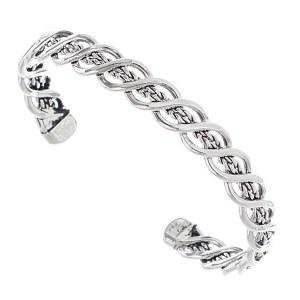 Double Twist Cuff Bracelet