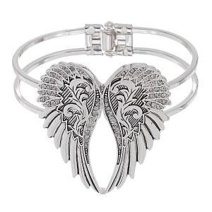 Angel Wing Hinged Bracelet