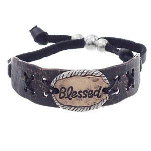 Blessed Metal Plate Bracelet