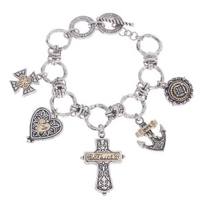 Faith Hope Love Reversible Charms Toggle Bracelet
