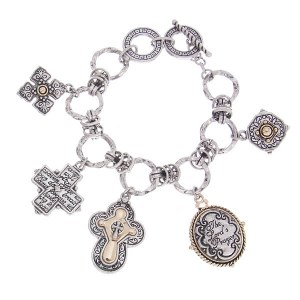 The Lord's Prayer Reversible Charms Toggle Bracelet