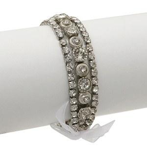 3 Strand Clear Crystal Stretch Bracelet