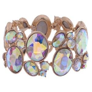 Oval Cluster Bracelet AB