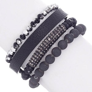 4 Strand Bead Stretch Bracelet